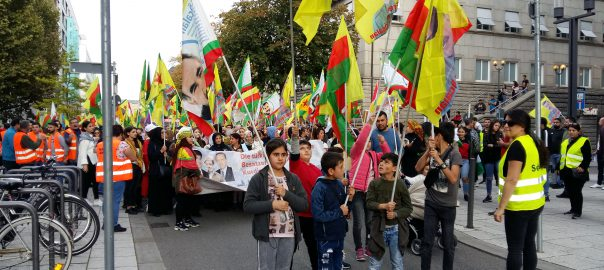 Jeden Montag Solidaritätsdemo FÜR Rojava